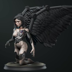 Download 3D print files Alita Battle angel statue, vinicius_cardoso