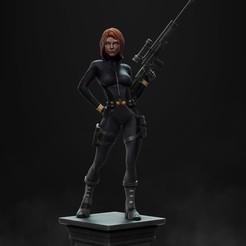 Download STL files Black Widow statue, vinicius_cardoso