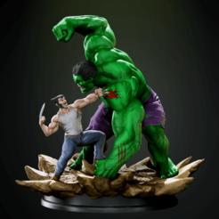 Download 3D printer model hulk vs wolverine , vinicius_cardoso