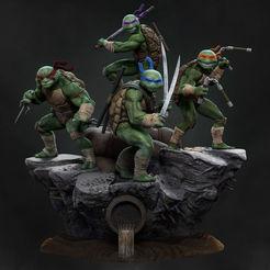 Download STL Teenage mutant ninja turtles diorama TMNT, vinicius_cardoso