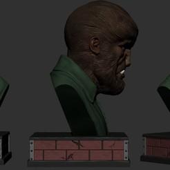 Download 3D printing templates Wolfman bust statue , vinicius_cardoso