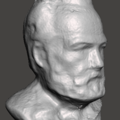 Modelisation3D-Victor-HugoVersionSquare.PNG Download STL file Victor Hugo Statue • 3D printable design, cyrius79