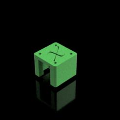 Tapa motor eje X v1.png Télécharger fichier STL gratuit Ender 3, couvercle pour moteur de l'axe X avec support pour interrupteur de fin de course • Design pour impression 3D, alberttova
