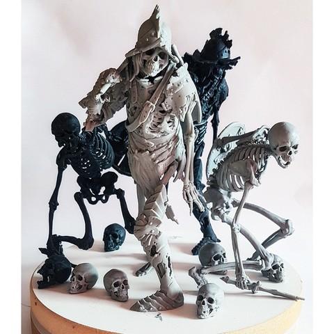 STL Evil Skeleton Knight, armians