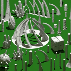 Necron_All_Models.png Download STL file 3D crystals  • 3D printable design, CombatCol