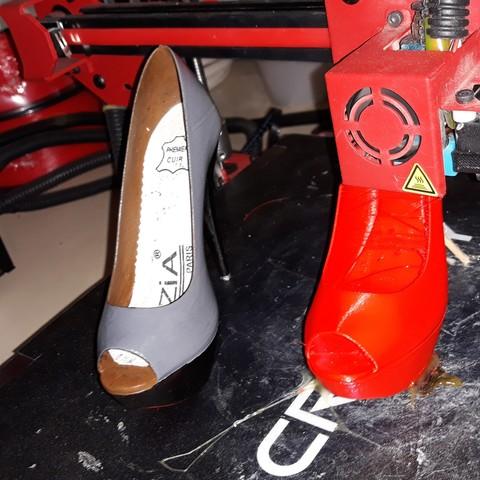 3D printer files Open Toe High Heels Platform 3D Print, PhilMicroShoes