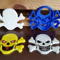 Download STL Skull and Crossbones Pirate Cookie Cutter, Richy_T