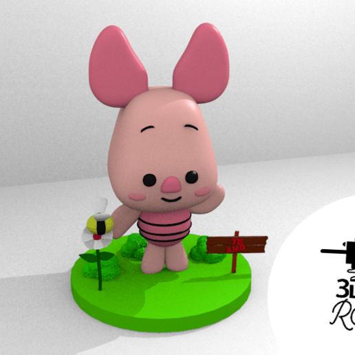 piglet.png Download free STL file PIGLET - winnie pooh, tender, gentle • 3D print object, RMMAKER