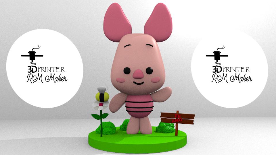 piglet2.png Download free STL file PIGLET - winnie pooh, tender, gentle • 3D print object, RMMAKER