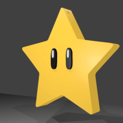 Download free STL file MARIO BROS STAR KEY RING - MARIO BROS STAR KEY CHAIN • 3D print template, RMMAKER