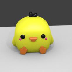 0001.png Download STL file funko chick - funko chick pio pio • 3D print object, RMMAKER