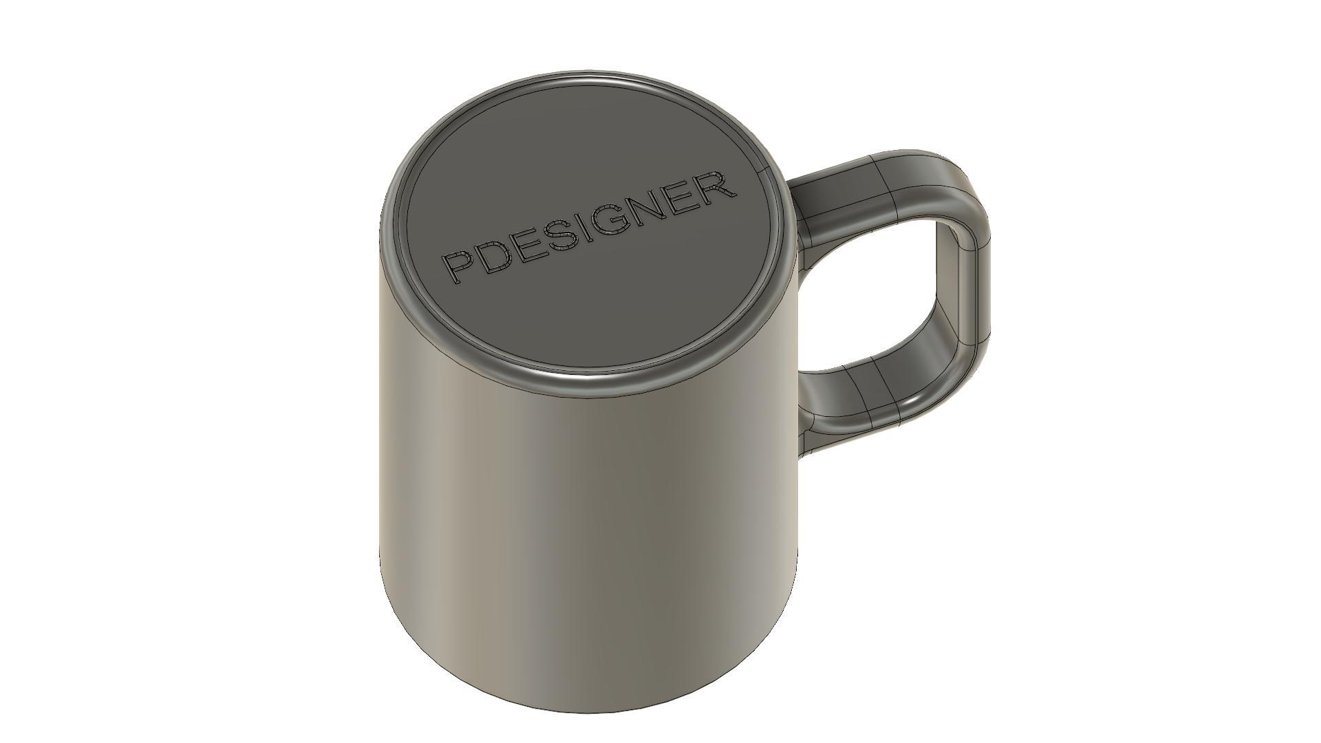 Kubek by Pdesigner v3.jpg Download free STL file Styling Mug for Coffee & Tea • Template to 3D print, PDesigner