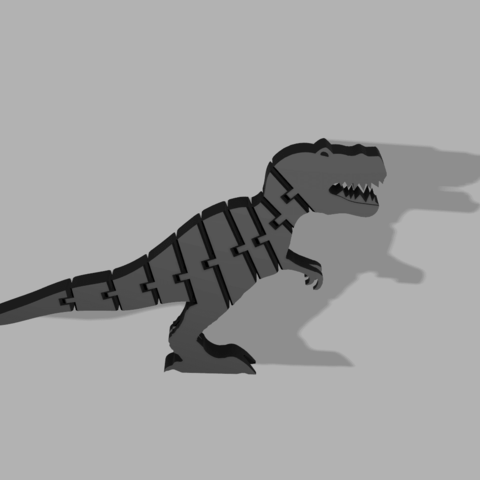 3D print model Flexi Trex figure, PDesigner