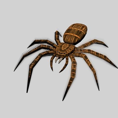 Download STL Spider figure, PDesigner