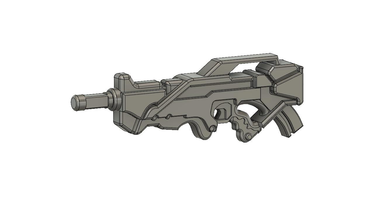 ALEPH_v2.png Télécharger fichier STL gratuit Le fusil combiné Aleph inspiré par l'infini • Design imprimable en 3D, manukrafter