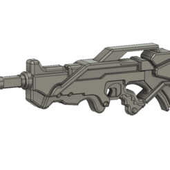 Download free 3D model Infinity inspired Aleph combi rifle, manukrafter