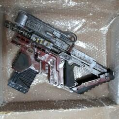 20201219_195658.jpg Download STL file Cyberpunk inspired Smart SMG gun • 3D printing object, manukrafter
