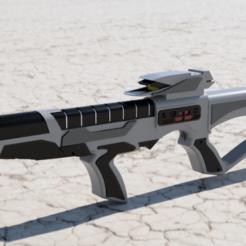 1.png Download STL file Star Trek First Contact EVA phaser rifle   • 3D printer model, manukrafter
