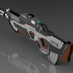 CG trader 1.png Download STL file Pan oceania rifle from Infinity war game • 3D printing design, manukrafter