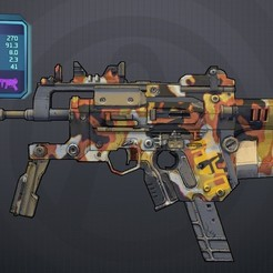 "Download free 3D printer files Borderlands DAHL ""Flying Fox"" SMG, manukrafter"