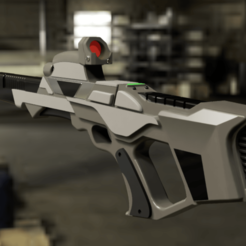 4 rend.png Download STL file Star Trek Nemesis phaser rifle • 3D printer model, manukrafter