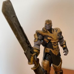 Download 3D printing templates Thanos sword miniature , manukrafter