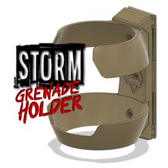 Rendering.png Download STL file STORM Grenade Holder • Design to 3D print, Rocket-Engineering