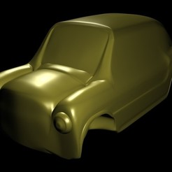 Descargar modelos 3D fiat 600 toy car 3d printable, 3DesingMultiverse