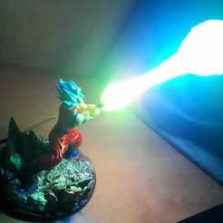 Archivos 3D Lampara led Goku Kamehameha Lamp Dragon ball, ixaaxx24