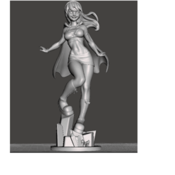 Sin título.png Download free STL file SUPER GIRL • 3D printable template, ixaaxx24