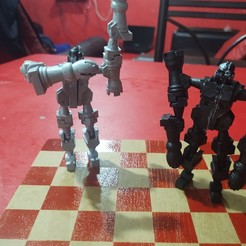 Download free 3D printing designs Chessbot Hero Transforming Chess Set, osvaldojimenezcarmona
