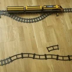 Download 3D model LEGO compatible curved rail, Neric21