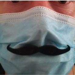 moustach.jpg Télécharger fichier STL Moustache de masque covid • Modèle à imprimer en 3D, Neric21