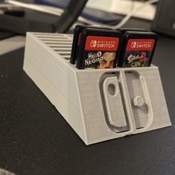 Télécharger plan imprimante 3D gatuit Nintendo Switch Cartouche Support de jeu pour cartouche Nintendo, Jabo_SCO