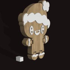 JENGIBRE.png Download STL file gingerbread man flex • 3D printing object, Alfredo3D