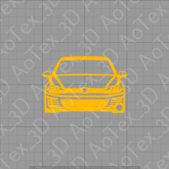 1 (1).png Download STL file Golf 7 GTI Keychain • 3D printable model, AoTex_3D