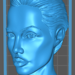 Download free 3D printer model Angelina Jolie Tomb Raider Actress, Hogheads3dPrinting