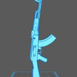 Download free STL file AK47 Assault Rifle Toy Gun • 3D print model, Hogheads3dPrinting