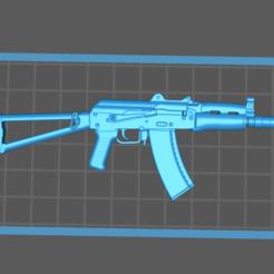 Download free 3D printer designs AK47U Assault Rifle Toy Gun, Hogheads3dPrinting