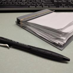 image.png Download free STL file Scrap Paper Notepad Holder • 3D printer design, a_str8