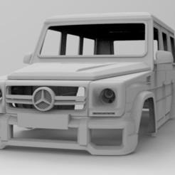 untitled.265.jpg Télécharger fichier STL Carrosserie de voiture Gelendwagen RC 330mm d'empattement • Objet imprimable en 3D, myrc4x4