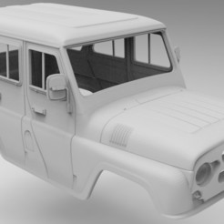 untitled.132.jpg Télécharger fichier STL UAZ Hunter 275mm empattement УАЗ Хантер 3d modèle RC4WD • Objet imprimable en 3D, myrc4x4