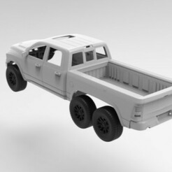 untitled.355.jpg Télécharger fichier STL Dodge RAM 6x6 STL files RC scale car body 3D Print • Modèle imprimable en 3D, myrc4x4