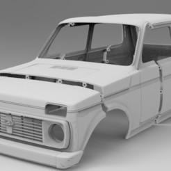 untitled.286.jpg Télécharger fichier STL Corps de la balance RC Lada Niva Axial RC4WD • Plan à imprimer en 3D, myrc4x4