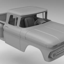 untitled.148.jpg Télécharger fichier STL Chevrolet C10 STL modèle 313 mm d'empattement • Objet à imprimer en 3D, myrc4x4