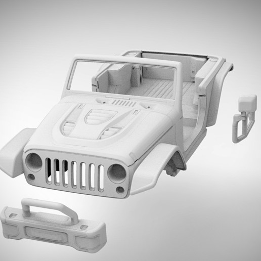 Download 3D Printing Files Jeep Wrangler Soft Top 313mm