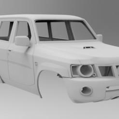untitled.118.jpg Télécharger fichier STL Nissan Patrol Y61 313mm empattement Axial, RedCat, TRX4 • Objet à imprimer en 3D, myrc4x4
