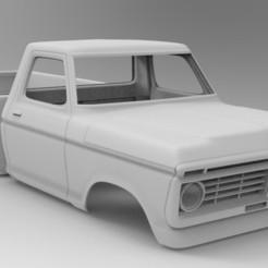 untitled.253.jpg Download STL file RC car body Ford F150 1974 STL model • 3D printable template, myrc4x4
