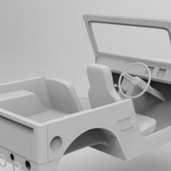 untitled.307.jpg Télécharger fichier STL Suzuki Jimny (Samurai) 1970 313mm empattement Axial, RC4WD • Plan imprimable en 3D, myrc4x4