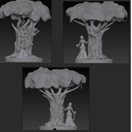 Download free 3D printing templates night elf witch lamp, alphaf4f4